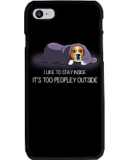 I Like To Stay Inside It'S Too Peopley beagle 1 Phone Case thumbnail
