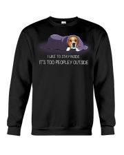 I Like To Stay Inside It'S Too Peopley beagle 1 Crewneck Sweatshirt thumbnail