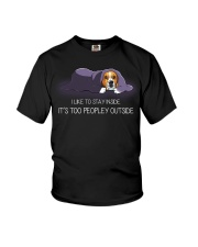 I Like To Stay Inside It'S Too Peopley beagle 1 Youth T-Shirt thumbnail