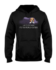 I Like To Stay Inside It'S Too Peopley beagle 1 Hooded Sweatshirt thumbnail