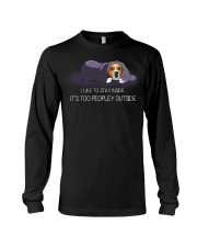 I Like To Stay Inside It'S Too Peopley beagle 1 Long Sleeve Tee thumbnail