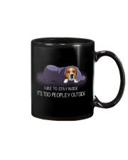 I Like To Stay Inside It'S Too Peopley beagle 1 Mug thumbnail