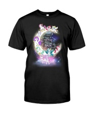 I LOVE YOU TO MOON AND BACK UNICORN BEST GIFT Classic T-Shirt front