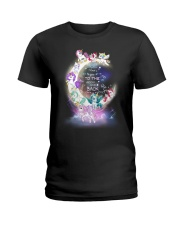 I LOVE YOU TO MOON AND BACK UNICORN BEST GIFT Ladies T-Shirt thumbnail
