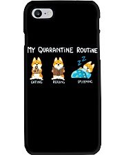 My Quarantine Routine Shiba inu Phone Case thumbnail