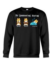 My Quarantine Routine Shiba inu Crewneck Sweatshirt thumbnail