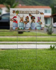 German Shepherd  And Butterflies It's Okay Yard Sign Merry Christmas Sign Garden Decor 18x12 Yard Sign aos-yard-sign-18x12-lifestyle-front-09