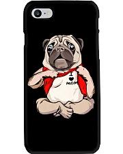 I Love Mom Chest Tattoo Pug Phone Case thumbnail