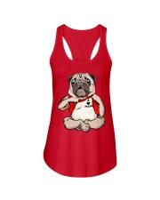 I Love Mom Chest Tattoo Pug Ladies Flowy Tank thumbnail