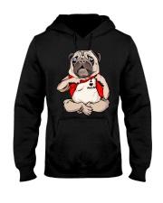 I Love Mom Chest Tattoo Pug Hooded Sweatshirt thumbnail