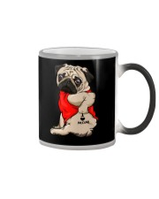 I Love Mom Chest Tattoo Pug Color Changing Mug thumbnail