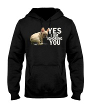 Yes I Am Ignoring Frenchie Hooded Sweatshirt thumbnail