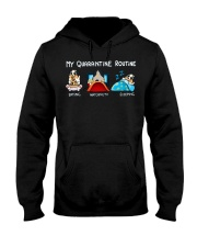 My Quarantine Routine australian shepherd4 Hooded Sweatshirt thumbnail