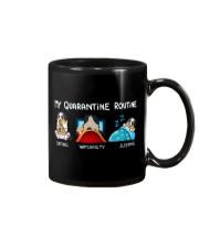 My Quarantine Routine australian shepherd4 Mug thumbnail