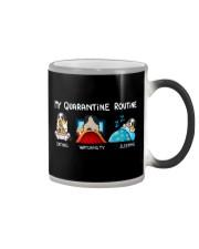 My Quarantine Routine australian shepherd4 Color Changing Mug thumbnail