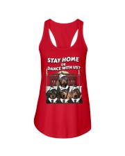 stay home or dance with us Ladies Flowy Tank thumbnail