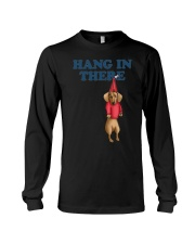 dachshund hang in there Long Sleeve Tee thumbnail