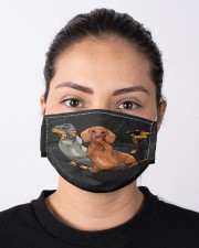 Dachsund funny Cloth face mask aos-face-mask-lifestyle-01