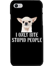 I only Bite Stupid People chihuahua Phone Case thumbnail