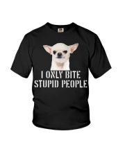 I only Bite Stupid People chihuahua Youth T-Shirt thumbnail