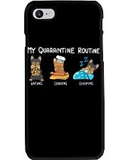 My Quarantine Routine Yorkie Phone Case thumbnail