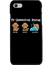 My Quarantine Routine poodle Phone Case thumbnail