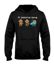 My Quarantine Routine poodle Hooded Sweatshirt thumbnail