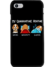My Quarantine Routine cocker spaniel4 Phone Case thumbnail