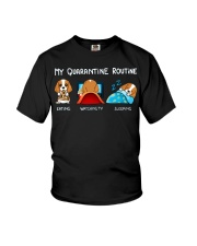 My Quarantine Routine cocker spaniel4 Youth T-Shirt thumbnail