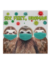 Sloth Six Feet Hooman Cute Gift For Daughter Cloth face mask aos-face-mask-coverlet-lifestyle-front-02
