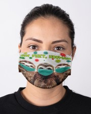 Sloth Six Feet Hooman Cute Gift For Daughter Cloth face mask aos-face-mask-lifestyle-01