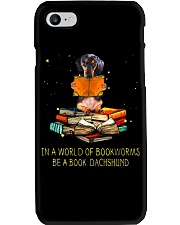 In A Worl D Of Bookworms Be A Book Dachshund  Phone Case thumbnail