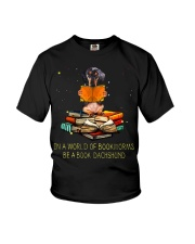 In A Worl D Of Bookworms Be A Book Dachshund  Youth T-Shirt thumbnail
