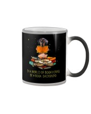 In A Worl D Of Bookworms Be A Book Dachshund  Color Changing Mug thumbnail