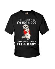 I'm Telling You I'M Not A Dog My Mom Shih Tzu Youth T-Shirt thumbnail