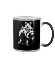 husky T-shirt  Color Changing Mug thumbnail