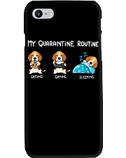 My Quarantine Routine beagle Phone Case thumbnail