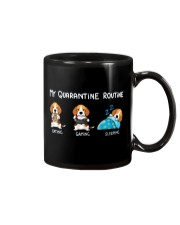 My Quarantine Routine beagle Mug thumbnail