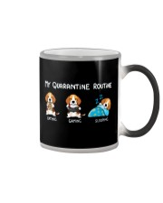 My Quarantine Routine beagle Color Changing Mug thumbnail