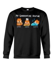 My Quarantine Routine Pomeranian3 Crewneck Sweatshirt thumbnail