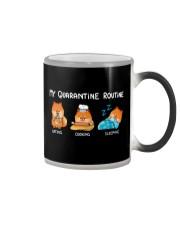 My Quarantine Routine Pomeranian3 Color Changing Mug thumbnail