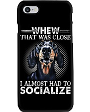 Whew That Was Close I Almost Had To Dachshund Phone Case thumbnail