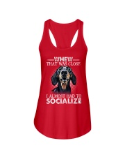 Whew That Was Close I Almost Had To Dachshund Ladies Flowy Tank thumbnail