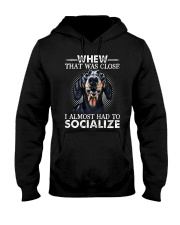 Whew That Was Close I Almost Had To Dachshund Hooded Sweatshirt thumbnail