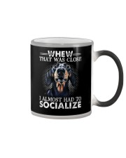 Whew That Was Close I Almost Had To Dachshund Color Changing Mug thumbnail