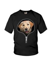 golden retriever Youth T-Shirt tile