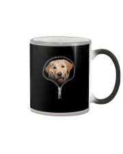 golden retriever Color Changing Mug tile