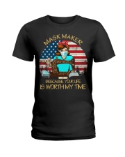 your life is worth my time sewing Ladies T-Shirt thumbnail