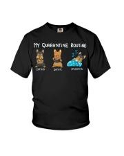 My Quarntine Routine Yorkie2 Youth T-Shirt thumbnail