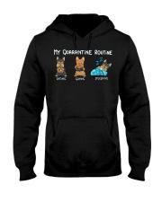 My Quarntine Routine Yorkie2 Hooded Sweatshirt thumbnail